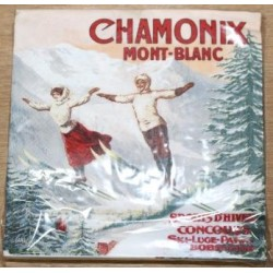 Serviette de table montagne CHAMONIX