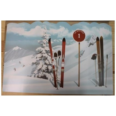 SET DE TABLE DECO MONTAGNE LES PISTES