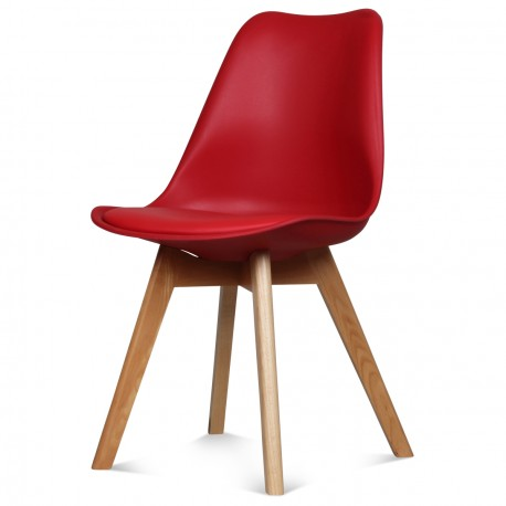 Chaise SCANDINAVE ROUGE 48 X 43 H 83 CM