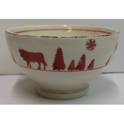 BOL en faience VACHE ROUGE lot de 6