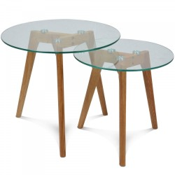 Tables gigognes SCANDINAVE set de 2