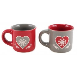 Lot de 2 Tasses à café timbale  COEUR HARTY