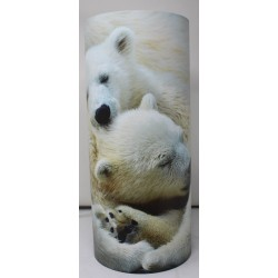 Lampe tube OURS BLANC  2 TAILLES