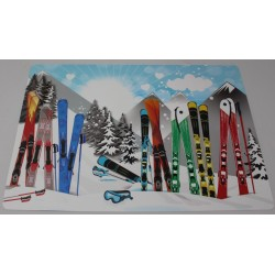 Set de table  déco montagne  les SKIS 42 x 29 cm