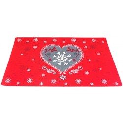 SET DE TABLE COEUR ROUGE HATY 28 X 43 CM