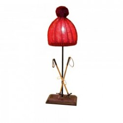 Mountain lamp with shade cap
